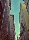 Vervollkommnen Sie alte Steinhäuser, alte Stadt, budva, Montenegro Stockfotografie