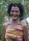 Vervollkommnen Sie das gefärbte Lächeln Stockfotografie