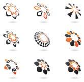 Vervormde abstracte pictogrammen Stock Foto