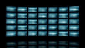 Vervormde gebogen videomuur het 3d teruggeven vector illustratie