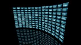 Vervormde gebogen videomuurdraai aan recht het 3d teruggeven Royalty-vrije Stock Fotografie