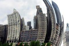 Vervormde gebouwen Royalty-vrije Stock Afbeeldingen