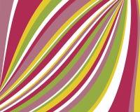 Vervormde retro kleurrijke strepenachtergrond Stock Afbeeldingen