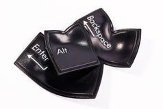 Vervormde zwarte sleutels Stock Foto's