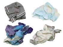 Verwaande vuile mensen` s zakdoeken stock afbeeldingen