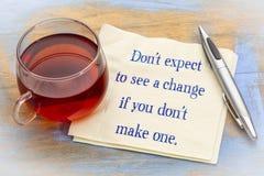 Verwacht om geen verandering te zien als u Stock Fotografie