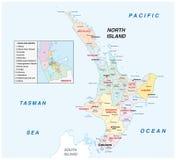 Neuseeland Nordinsel Karte.Verwaltungs Und Politische Karte Neuseeland Nordinsel Vektor