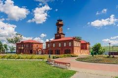 Verwaltungsgebäude und Feuerwache Lizenzfreie Stockfotos