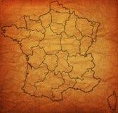 Verwaltungskarte von Frankreich Stockbilder