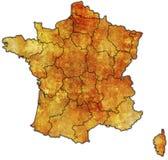 Verwaltungskarte von Frankreich Stockfoto
