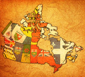 Verwaltungskarte von Kanada Lizenzfreie Stockbilder