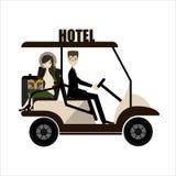Verwanztes Auto in einem Hotel Vektor Lizenzfreie Stockfotografie