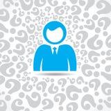 Verwar zakenlieden met velen vraag produceren in mening royalty-vrije illustratie