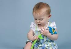 Verwarde baby Royalty-vrije Stock Afbeeldingen