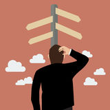 Verwarde bedrijfsmens Stock Afbeelding