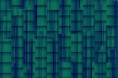 Verwarde blauwachtige achtergrond met architectonische 3d schaduwen Stock Fotografie