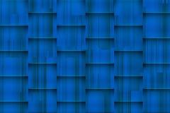 Verwarde blauwe achtergrond met architectonische 3d schaduwen Stock Foto's