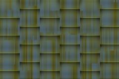 Verwarde groenachtige achtergrond met architectonische 3d schaduwen Stock Afbeelding