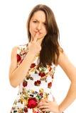Verwarde jonge vrouw Stock Fotografie