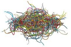 Verwarde kabels royalty-vrije stock fotografie