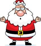 Verwarde kerstman Royalty-vrije Stock Afbeeldingen
