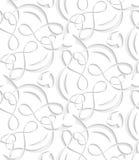 Verwarde naadloze lijnen Stock Afbeeldingen