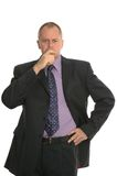 Verwarde zakenman. Royalty-vrije Stock Afbeeldingen