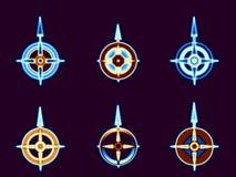 Verwarmd kompas royalty-vrije illustratie