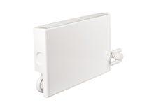 Verwarmend batterijradiator op wit wordt geïsoleerd dat Royalty-vrije Stock Foto's