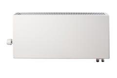 Verwarmend batterijradiator op wit wordt geïsoleerd dat Royalty-vrije Stock Afbeelding