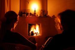 Verwarmer en vrouw Stock Foto