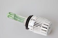 Verwarmingskostennen royalty-vrije stock afbeelding