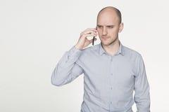 Verwarrend telefoongesprek Stock Afbeeldingen