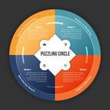 In verwarring brengende Cirkel Infographic Stock Foto