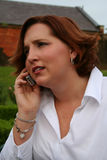 Verwarring op de telefoon stock foto's