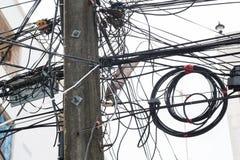 Verwarring van kabels en draden Royalty-vrije Stock Foto