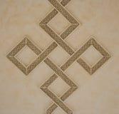 Verwebende quadratische Muster auf Decke Lizenzfreie Stockbilder