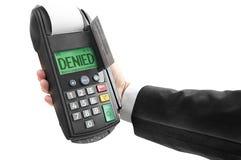 Verweigerte Kreditkarte Lizenzfreie Stockfotos