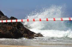 Verweigerter Eintritt in das Wasser Lizenzfreie Stockfotografie