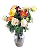 verwelkter Roseblumenstrauß Lizenzfreies Stockfoto