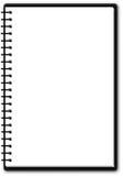 Verwendbarer Notizblock (einzelne Seite) Stockfotos