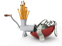 Verwenden Sie Ihr immagination und verdienen Sie Geld stockbilder