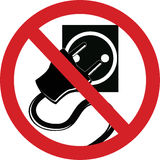 Verwenden Sie nicht Elektrizität Stockfotos