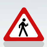 Verwenden Sie verboten an gehendem Handy lizenzfreie abbildung