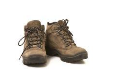 Verwendet, Schuhe wandernd Lizenzfreie Stockfotografie