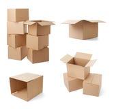 Verwendetes offenes Post des Postpaket-Umschlags Kasten Lizenzfreie Stockbilder