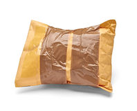 Verwendetes offenes Post des Postpaket-Umschlags Kasten Stockfoto