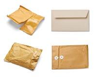 Verwendetes offenes Post des Postpaket-Umschlags Kasten Lizenzfreies Stockbild