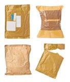 Verwendetes offenes Post des Postpaket-Umschlags Kasten Lizenzfreie Stockfotos