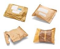 Verwendetes offenes Post des Postpaket-Umschlags Kasten Lizenzfreie Stockfotografie